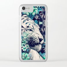 Floral Tiger Clear iPhone Case
