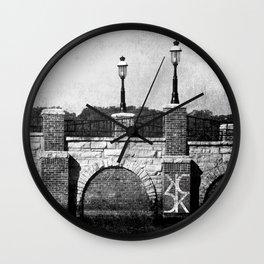 Grunge Bridge Wall Clock