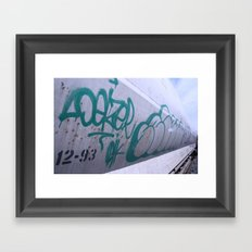 Train Garffiti  Framed Art Print