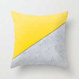 Yellow & Gray Abstract Background Throw Pillow