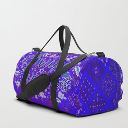 -A31- Merry Christmas Traditional Style. Duffle Bag