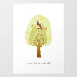 Partridge in a Pear Tree Art Print