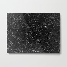 Raven Rage Metal Print