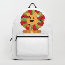 Your Big Cat in Decorative Christmas Wreath Backpack