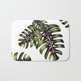 Monstera leaf - watercolor  Bath Mat