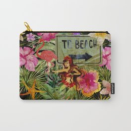 Tropical Vintage Exotic Jungle Beach Party on #Society6 Carry-All Pouch