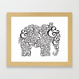 Ampersand Elephant Framed Art Print
