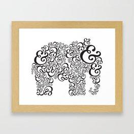 Ampersand Elephant Framed Art Print