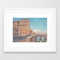 castle in the sky Framed Art Prints featuring Castle In The Sky by ZBOY