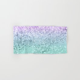 Mermaid Girls Glitter #1 #shiny #decor #art #society6 Hand & Bath Towel