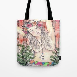 A Bit of Neon in the Woods Tote Bag