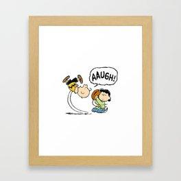 Charlie Brown Foot Ball Framed Art Print