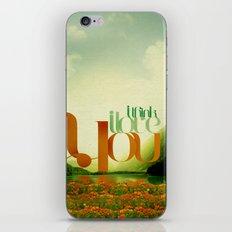I Think I Love You iPhone & iPod Skin