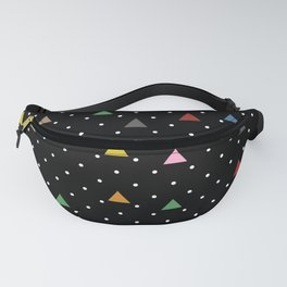 Pin Point Triangles Black Fanny Pack