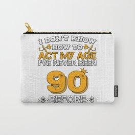 Birthday Present 90 Years Birthday Ninety Born 1928 Carry-All Pouch