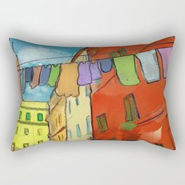 Laundry in Trastevere Rectangular Pillow