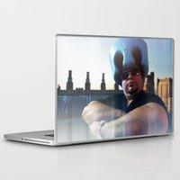 superheroes Laptop & iPad Skins featuring Superheroes SF by Sookie Endo