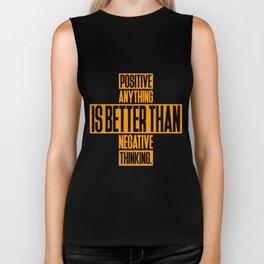 Lab No. 4 Positive Anything Elbert Hubbard Life Inspirational Quotes Biker Tank
