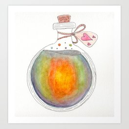 Rainbow Love Potion Art Print