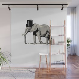 Elephant Wearing Top hat Wall Mural