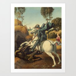Saint George and the Dragon Art Print