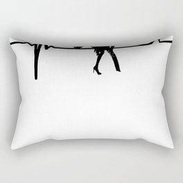 Dance Heart Beat with Stiletto She Rectangular Pillow