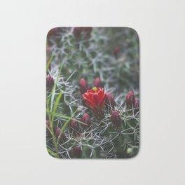 Red Cactus Flower Bath Mat