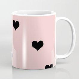 Modern heart pattern in pink and black Coffee Mug