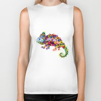 chameleon Biker Tanks featuring Chameleon by RAW-CUT