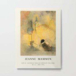 Poster-Jeanne Mammen-Der hl. Antonius und die Königin von Saba. Metal Print