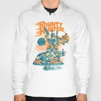 stickers Hoodies featuring BOUNTY HUNTER by BeastWreck