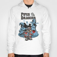 dungeons and dragons Hoodies featuring PIPES & DRAGONS by Adams Pinto