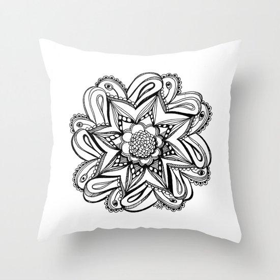 Zendala ornate Throw Pillow