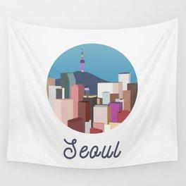 Seoul City Art Wall Tapestry