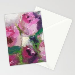 Pink Fresh Roses Stationery Cards