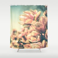 spring Shower Curtains featuring Spring Equinox by Olivia Joy StClaire