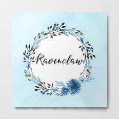 HP Ravenclaw in Watercolor Metal Print