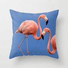 Flamingo Contrast #society6 #decor #buyart Throw Pillow