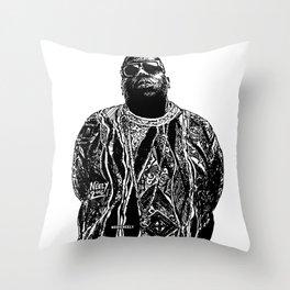 Biggie Biggie Biggie Throw Pillow