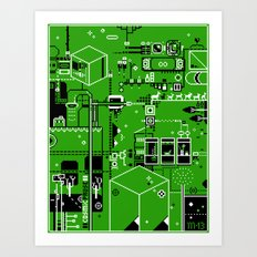 Cosmic Pause - pixel art Art Print