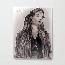RGD Girl Portrait | Troll Tova Metal Print