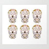 Sugar Skull Family Art Print