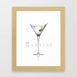 Vodka Martini Framed Art Print