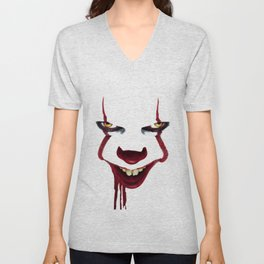 scary clown Unisex V-Neck