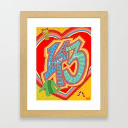 143 - I Love You Neighbor - Mister Rogers Neighborhood Inspired Framed Art Print