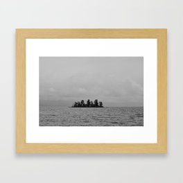 Goose Bay Island Framed Art Print