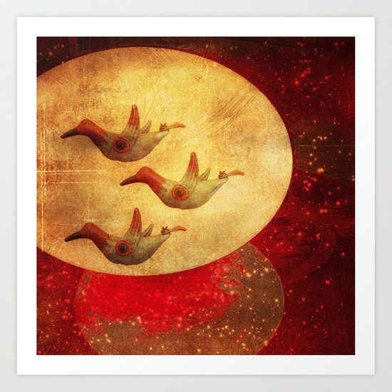 They Went That Way Art Print