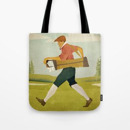 Golfer Vintage Golf Tote Bag