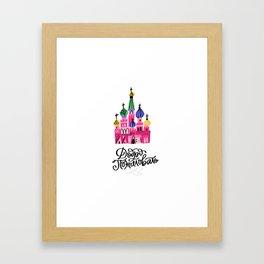 Moscow Kremlin Illustration Framed Art Print