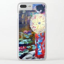 Japanese Umbrella Clear iPhone Case